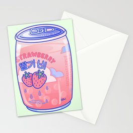Strawberry Rain Stationery Cards