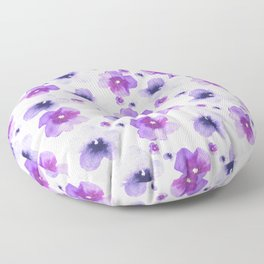Modern purple lavender watercolor floral pattern Floor Pillow