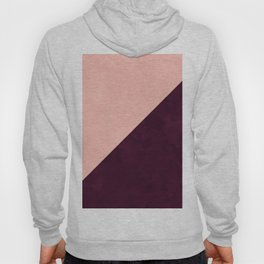 Modern blush pink burgundy watercolor color block geometric Hoody