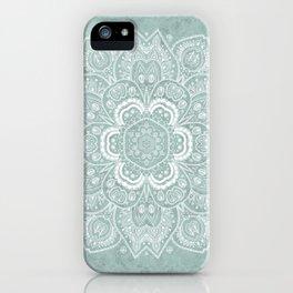Mandala Temptation in Rustic Sage Color iPhone Case