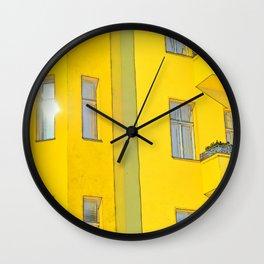 yellow house in Berlin Wall Clock
