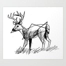 Modern deer Art Print