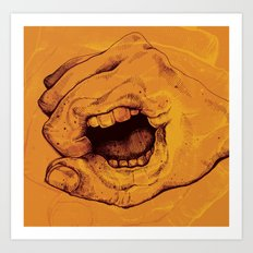 Don't Talk With Your Hands Art Print