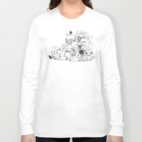 monsters Long Sleeve T-shirts featuring Monsters by Nate Galbraith