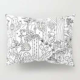 Arizona Desert Museum - Line Art Pillow Sham