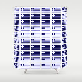 Flag of greece -Greek, Ελλάδα,hellas,hellenic, athens,sparte,aristotle. Shower Curtain