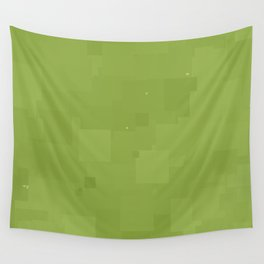 Peridot Square Pixel Color Accent Wall Tapestry