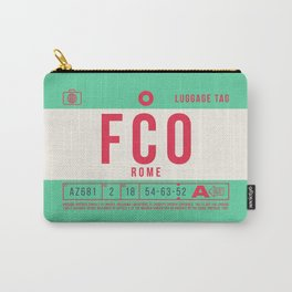 Retro Airline Luggage Tag 2.0 - FCO Rome Airport Italy Carry-All Pouch