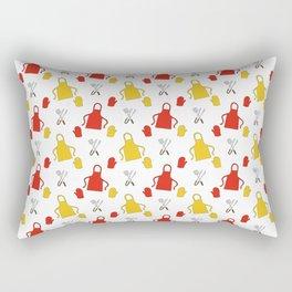 Apron - BBQ Doodle Pattern Rectangular Pillow