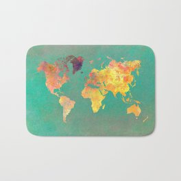 world map 103 #worldmap #map Bath Mat