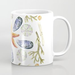 Tide Pool Beach Mandala 3 - Watercolor Coffee Mug