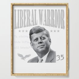 John F. Kennedy | Liberal Warrior | A rising tide lifts all boats Serving Tray