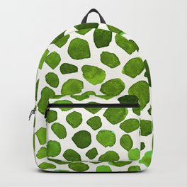 Emerald Green Stones Watercolor Minimalism Painting Backpack