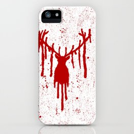Red Stag Head iPhone Case