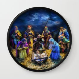 Birth of Jesus Wall Clock