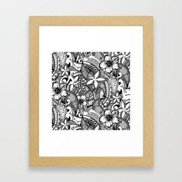 Hawaiian Polynesian Trbal Tatoo Print Framed Art Print