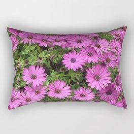 Cheery Purple African Daisies Rectangular Pillow