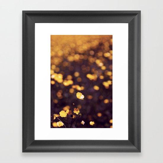 {buttercup blue} Framed Art Print