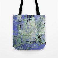 transparent Tote Bags featuring transparent flowers by clemm