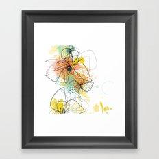 Orange Botanica Framed Art Print