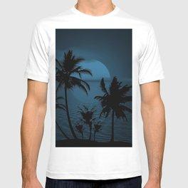 Twilight Moon on Exotic Tropical Island T-shirt