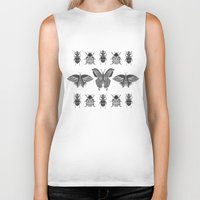 insects Biker Tanks featuring insects by Textile Candy