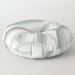Elegant Gray Green Stripes Floor Pillow