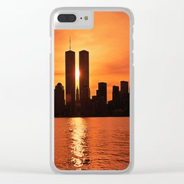 Twin Towers Summer Sky Clear iPhone Case