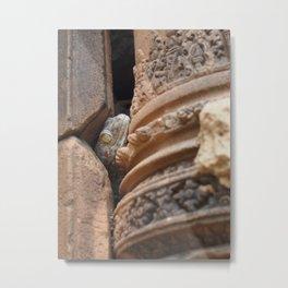Angkor Gecko - Travel and Nature Photography Metal Print