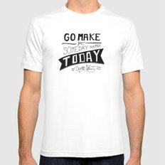Go Make Today Mens Fitted Tee White MEDIUM