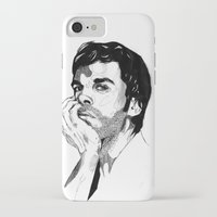 dexter iPhone & iPod Cases featuring Dexter by Giorgia Ruggeri