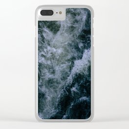 Churning Waters Clear iPhone Case