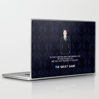 moriarty Laptop & iPad Skins featuring The Great Game - Jim Moriarty by MacGuffin Designs