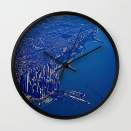 Chicago By Air No. 1: The Lakeshore from Downtown to Evanston Wall Clock