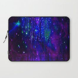 TREES MOON AND SHOOTING STARS Laptop Sleeve