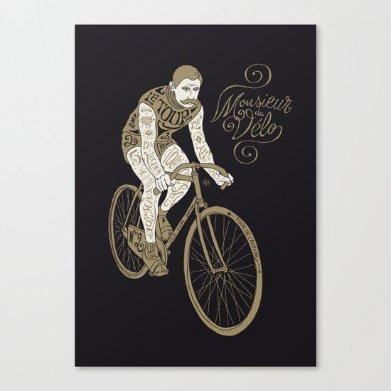 Monsieur du vélo Canvas Print