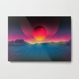 Futuristic sunny mountains Metal Print