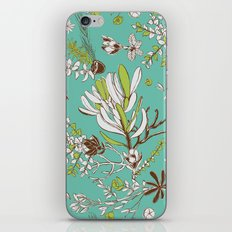 Teal Cradle Flora iPhone & iPod Skin