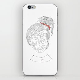 Portrait of a Mood iPhone Skin