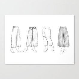 What's in my sketchbook_Culottes Canvas Print