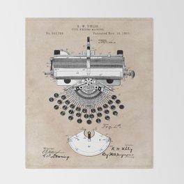 patent art type writing machine Throw Blanket