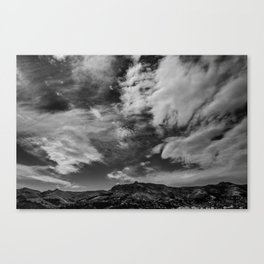 Port Hills Skies Canvas Print