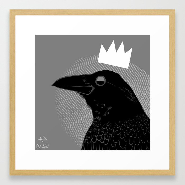 King of Crows Framed Art Print