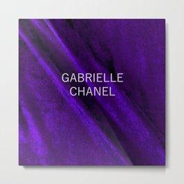 coco gabriell purple velvet edition Metal Print