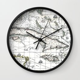 The island of Cuba - 1762 Wall Clock