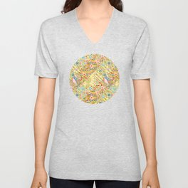 Sunshine Crazy Quilt (printed) Unisex V-Neck