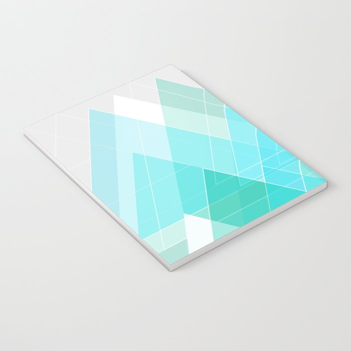 Icy Grey Mountains Notebook