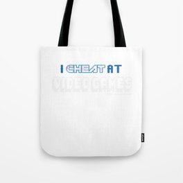 I Cheated At Videogames Computer Gaming Controller Gamers Games Gift Tote Bag