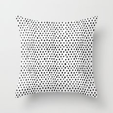 Polka dot rain Throw Pillow