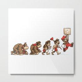 8-Bit Evolution Mario Metal Print